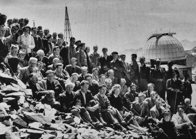 groupe de botanistes à l'observatoire 1948